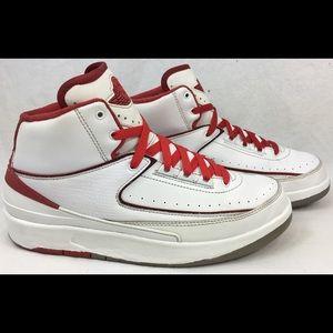 Air Jordan 2 Retro BG 'White Varsity' Shoe Size 7Y